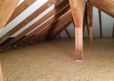 Innendämmung des Dachbodens