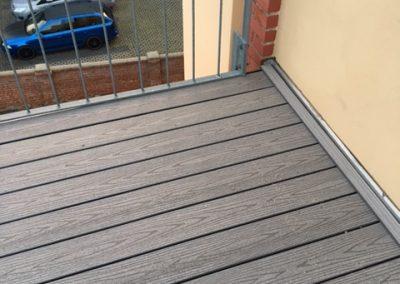 Abdichtung und Verlegung eines neuen Terrassenbelags (WPC-Dielen) inkl. Wandanschluss